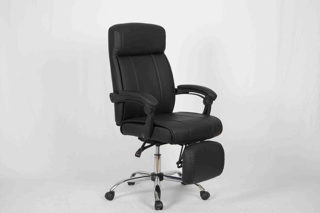 Multi function Home Office Computer Chair PVC Leather High Back Recliner With Footest